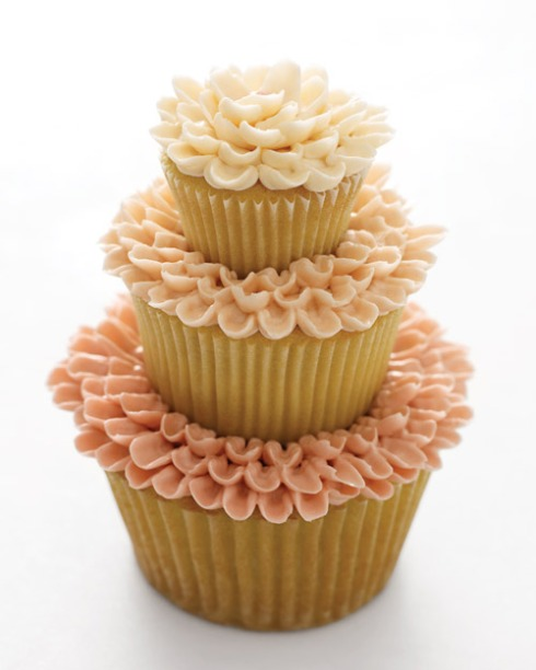 Three Tiered Wedding Cupcake